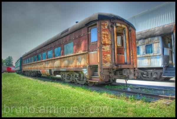 HDR, Trainyard, Museum, Wagon, Rust