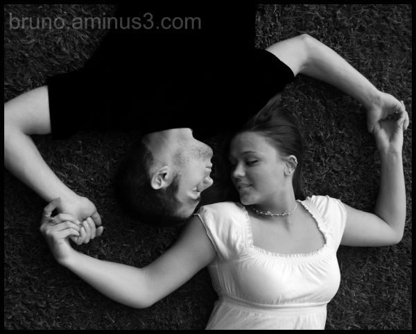 Portrait, young, Couple, Love