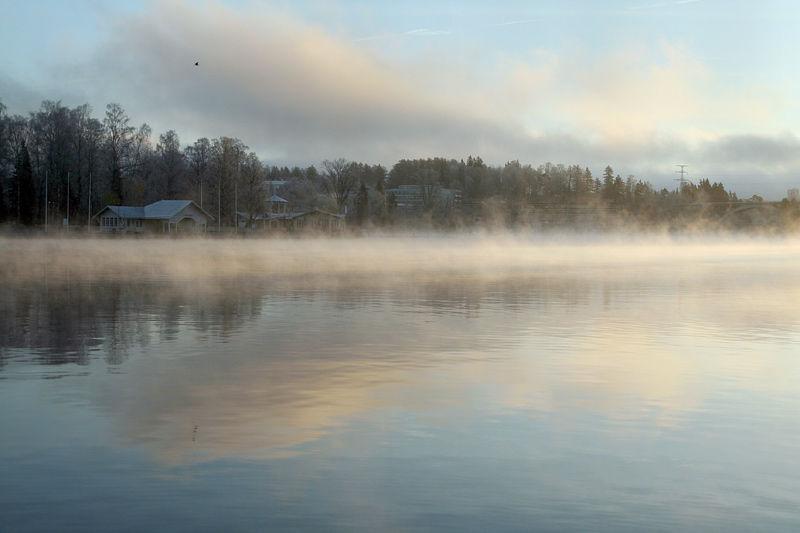 Early morning sun rise in Heinola, Finland