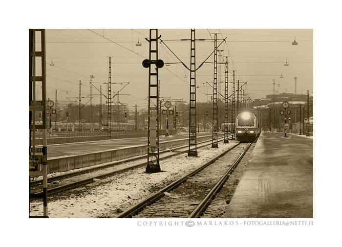 Helsinki railway yard