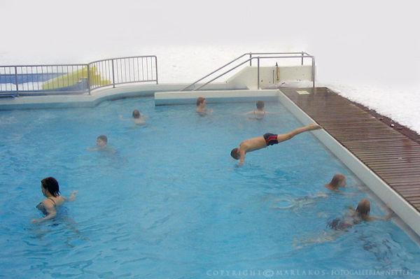 Winter fun in the cold pool