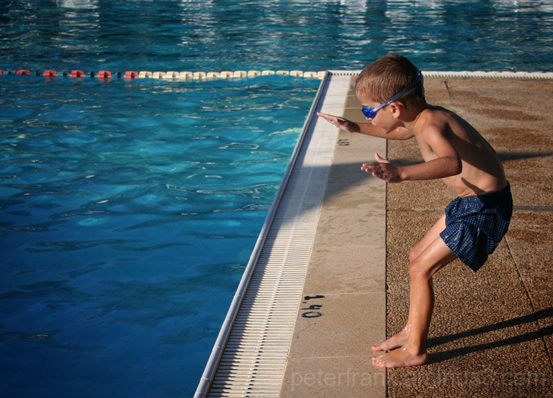people child water pool boy