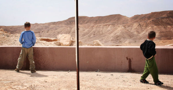 child people desert piss