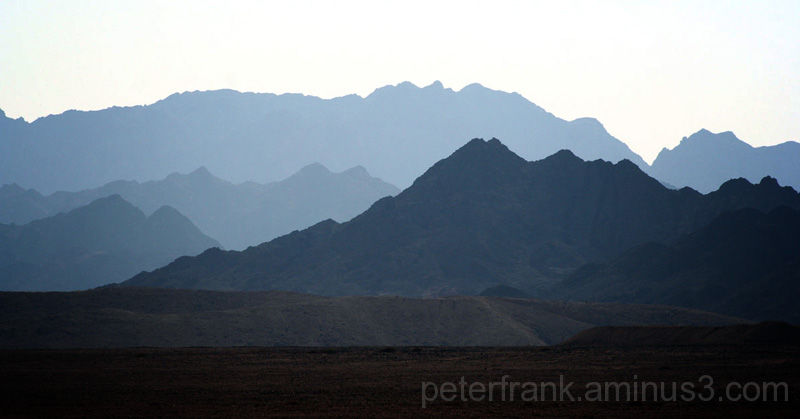 landscape nature desert, mountain, blue