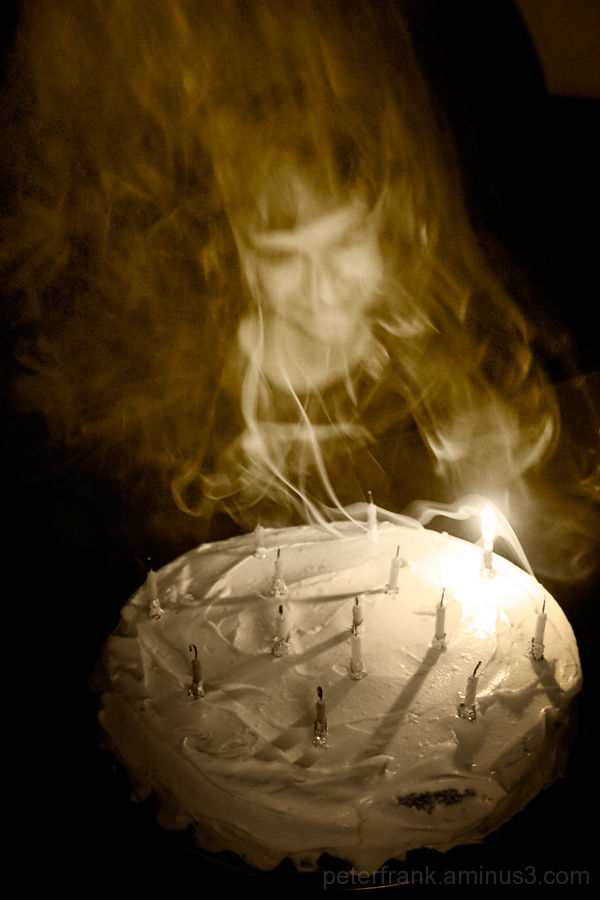 child people portrait b&w cake light candle