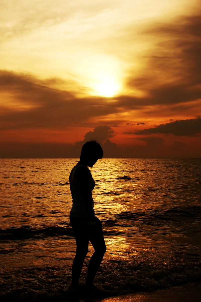 Walking On The Beach At Sunset - People & Portrait Photos ...