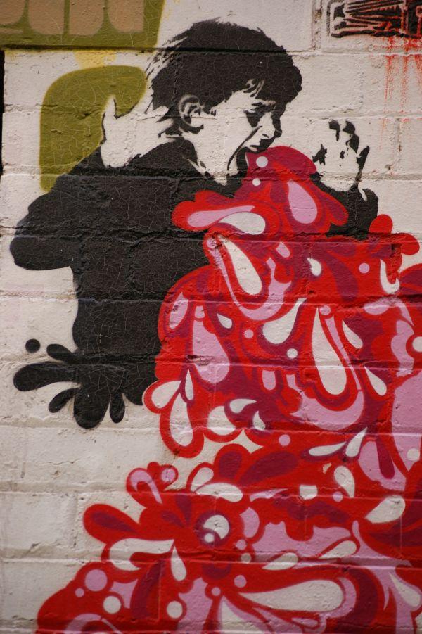 Graffiti At Hosier Lane