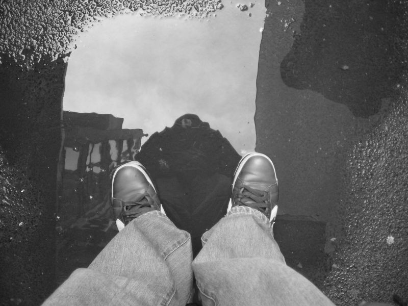 puddle as a mirror