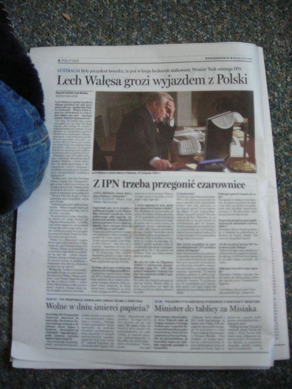 solidarność z Lechem Wałęsą