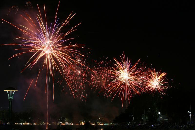 Fireworks in Moomba Water Festival