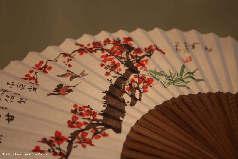 cherry blossoms wind fan Taipei paper