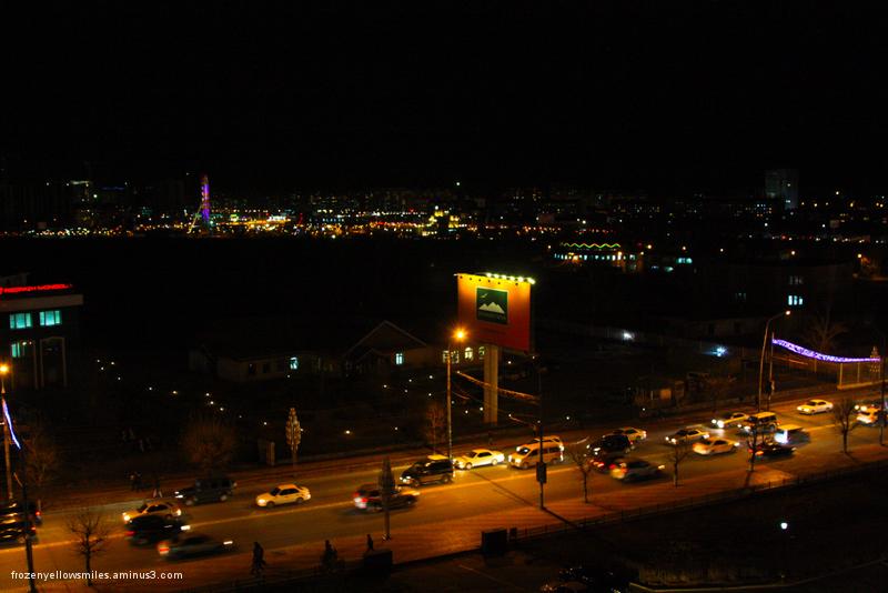 mongolia, ulaanbaatar, peace avenue, bayongol hote