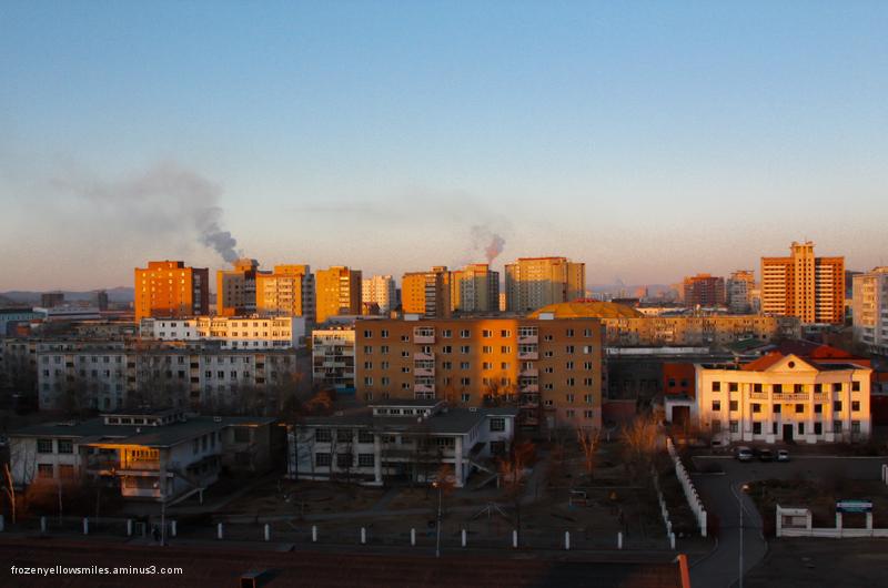 mongolia, ulaanbaatar, sunrise, bayangol