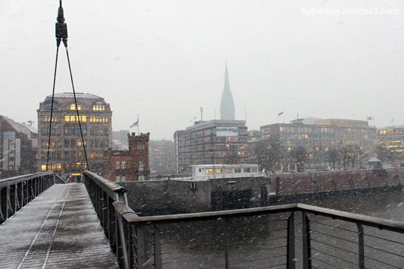 snowy Hamburg