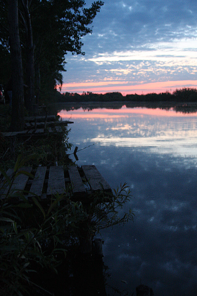 water  lake  sunrise
