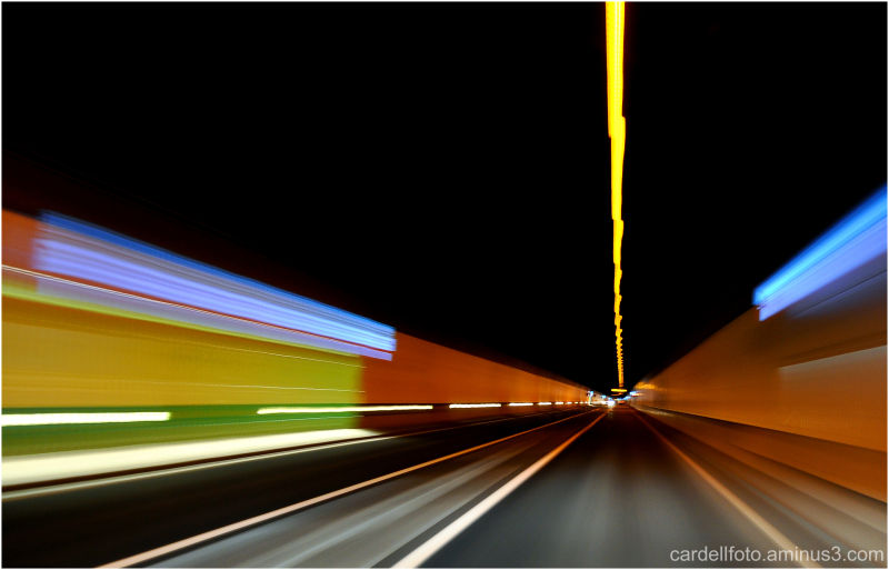 Tunel in the motorway