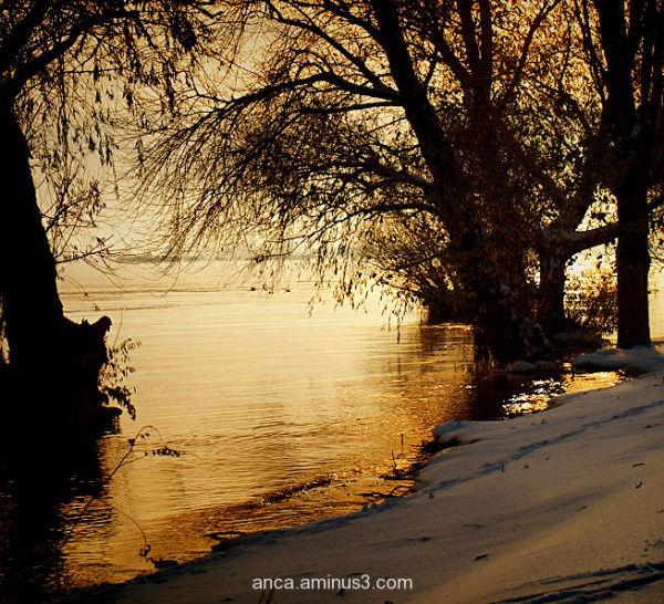 Sunset on the Danube