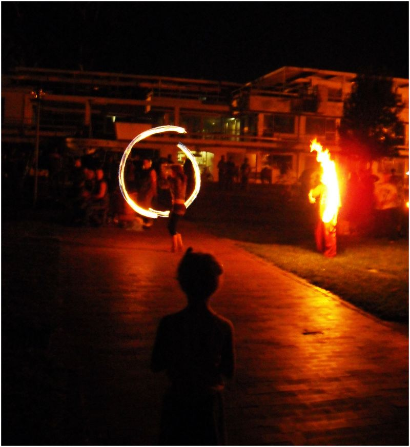 Fire Dancing on the Green
