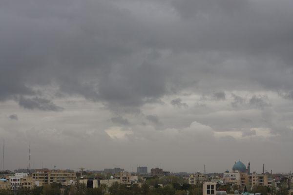 اصفهان باران ابر