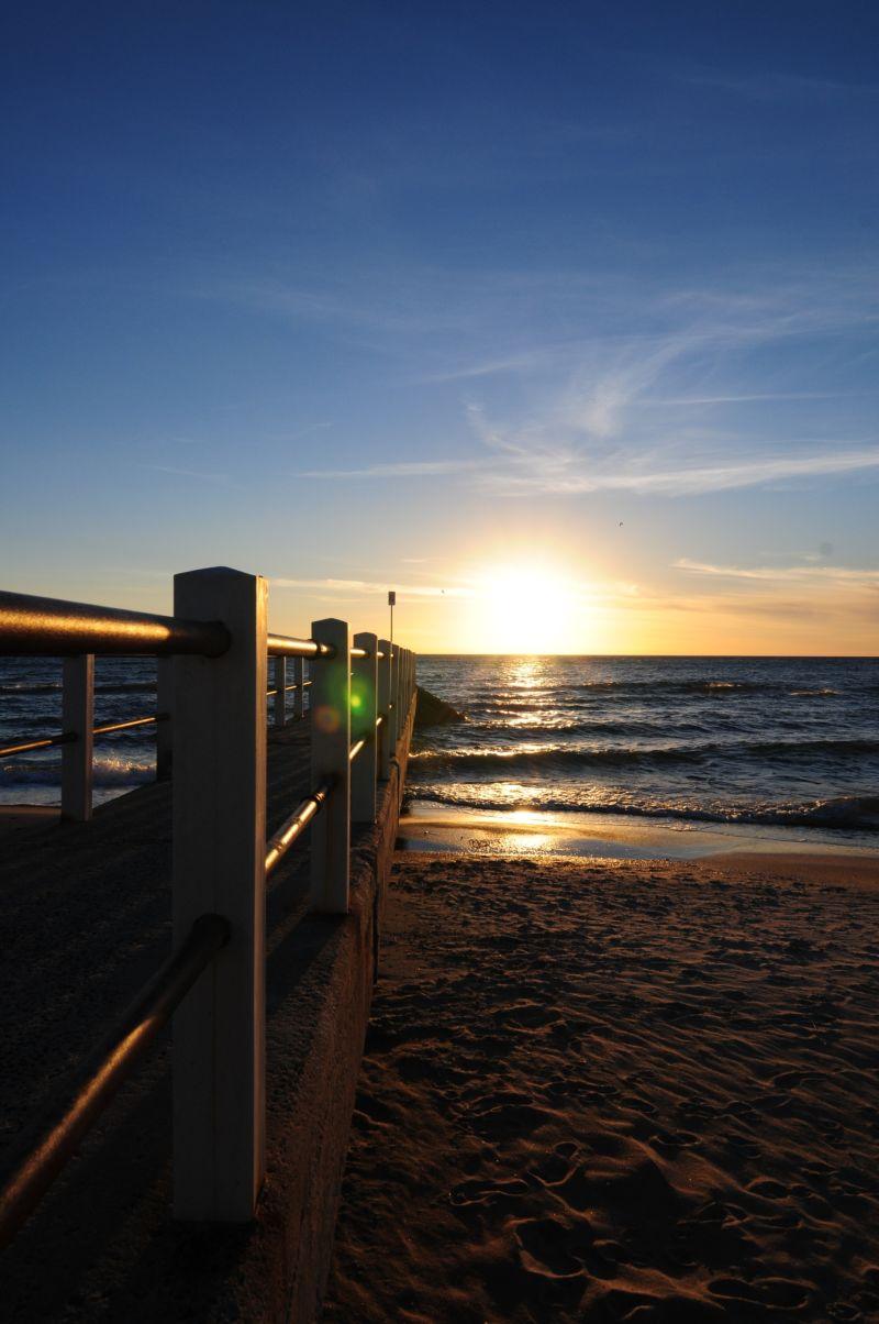 pier, sunset