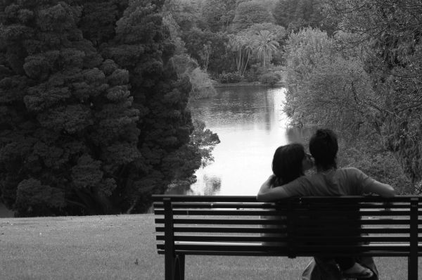 grayscale couple