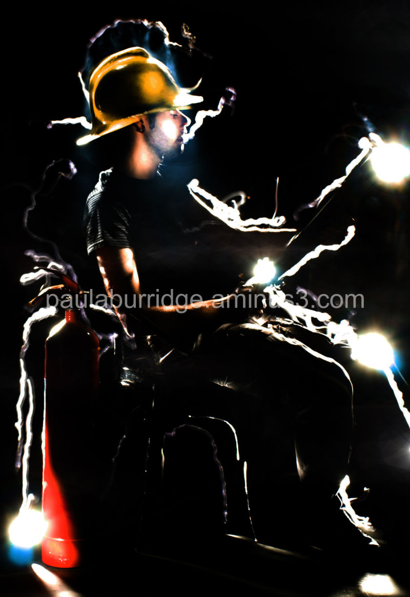 Fireman- painted with light