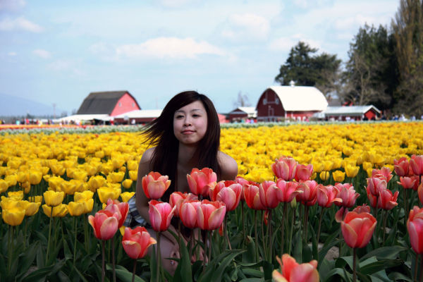 Girl from the tulip town