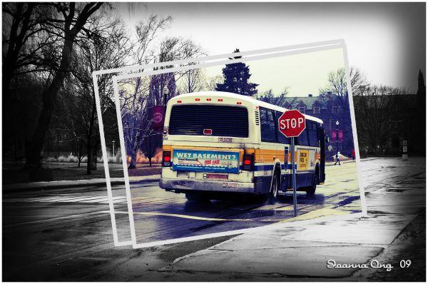 bus on campus