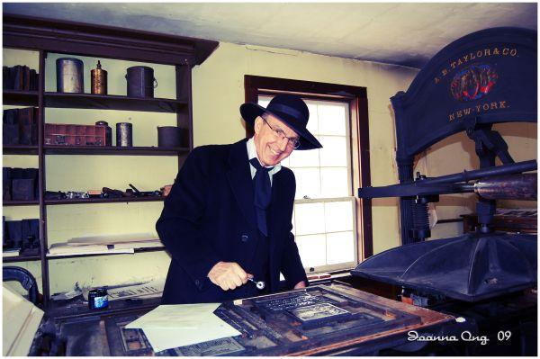 printing press gentleman