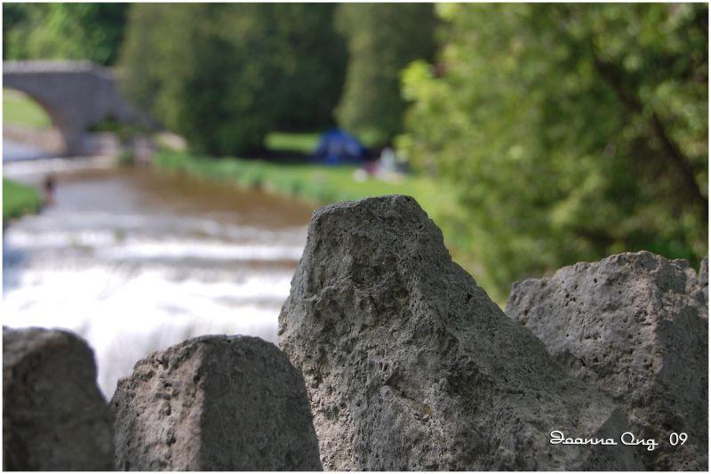 rock - falls background
