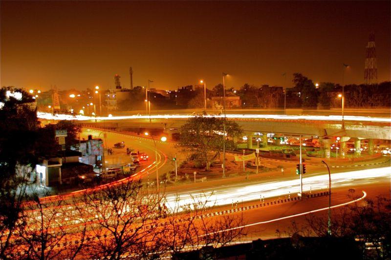 Rush hour - Delhi lights