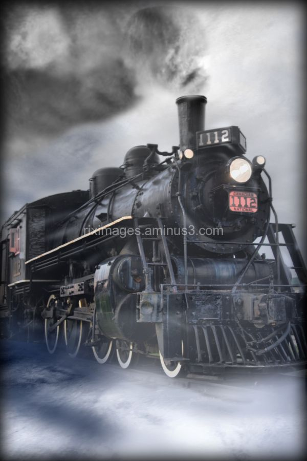 Steam train in the clouds