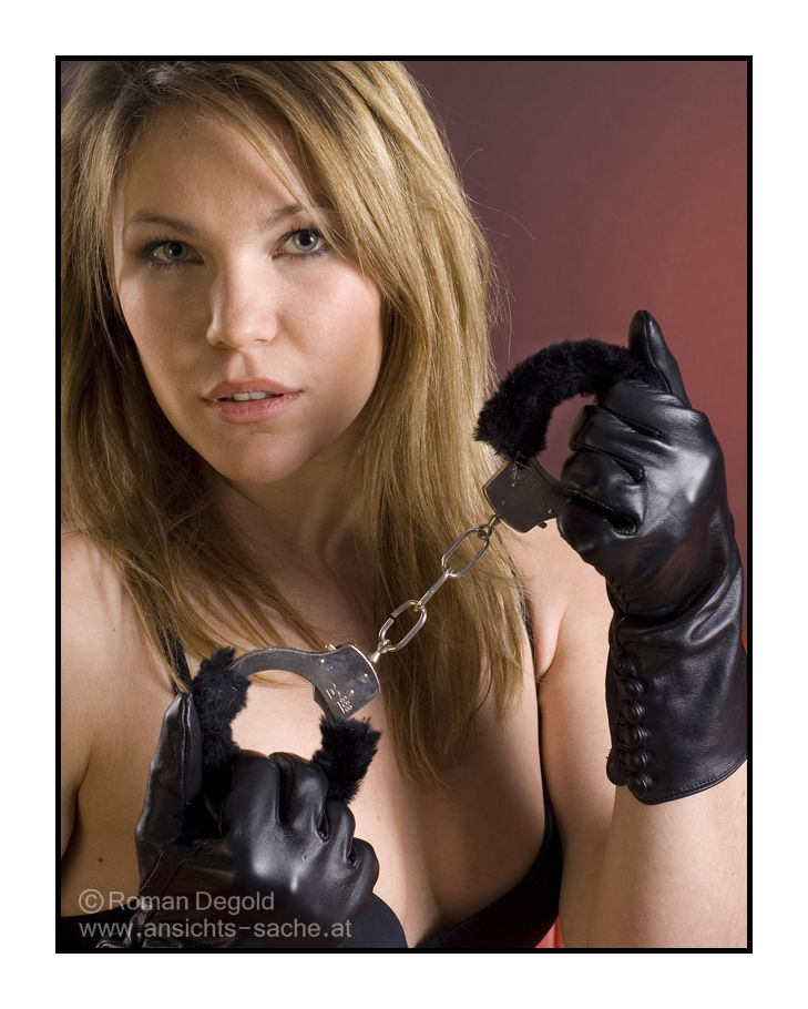 Girl with cuffs