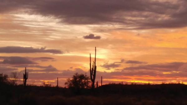 sunset in Arizona Dec 2020