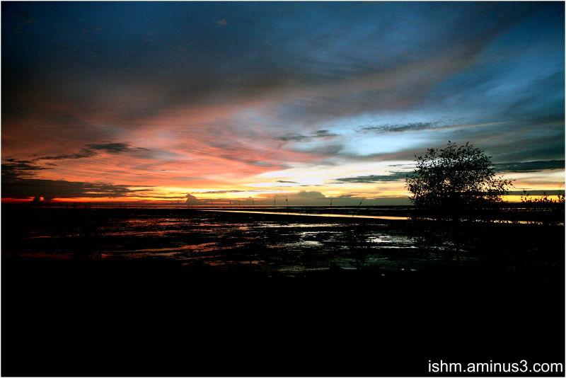Sunset in Kuala Selangor, Malaysia.