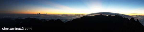 sun rise, mount kinabalu