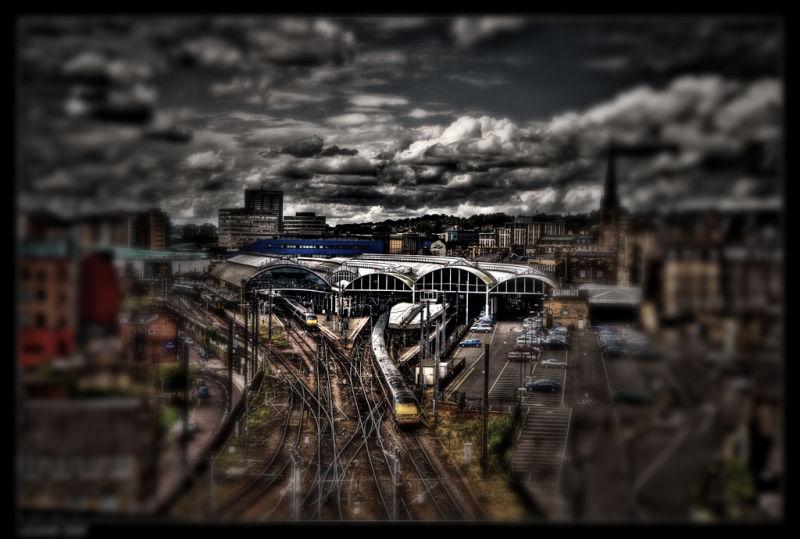 Train Station - Tiltshift