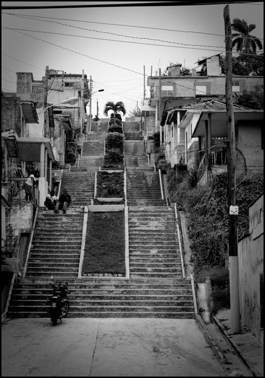 A street made of stairs in Matanzas
