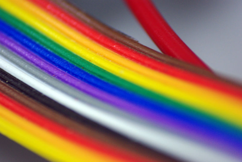Colourful wires