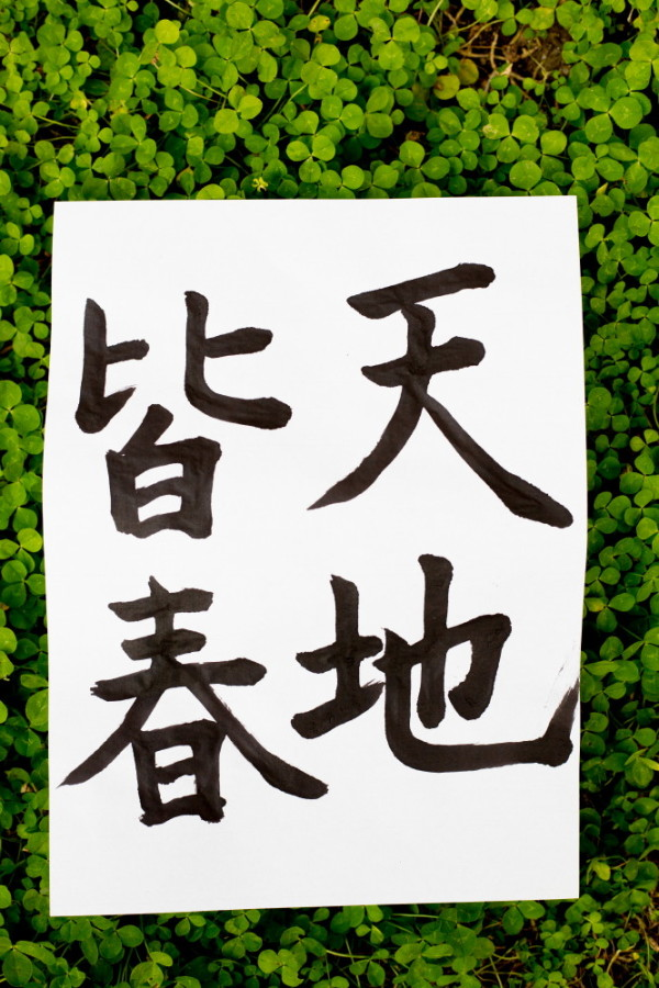 first Calligraphy in the New Year 2016