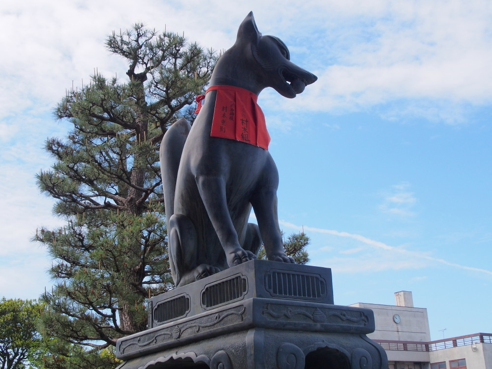 Fox is the symbol of the shrine.