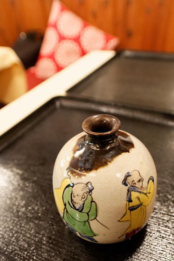 An artistic SAKE bottle