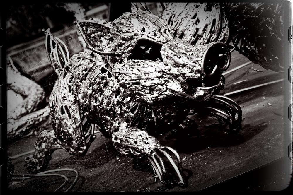 metallic animal #5 - Good bye, Mr. Wild Boar