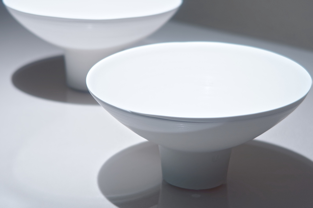 White porcelain at the exhibition #1