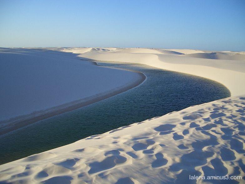 water and sand in Lençois, Brasil