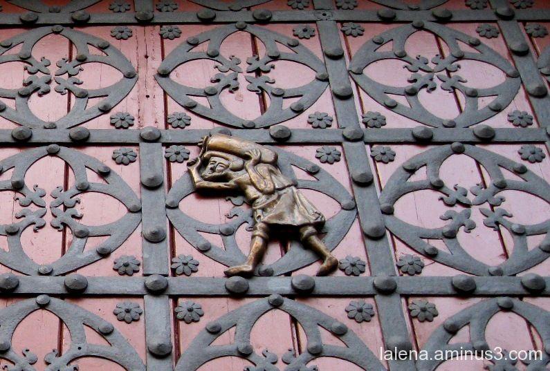 Detall porta església Sta. Maria del Mar