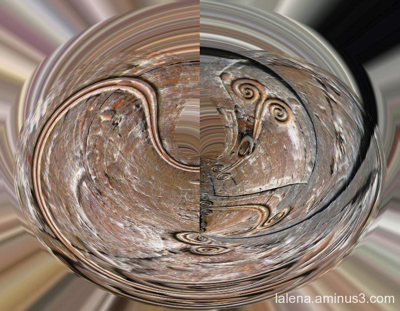 Detall de ferro polaritzat