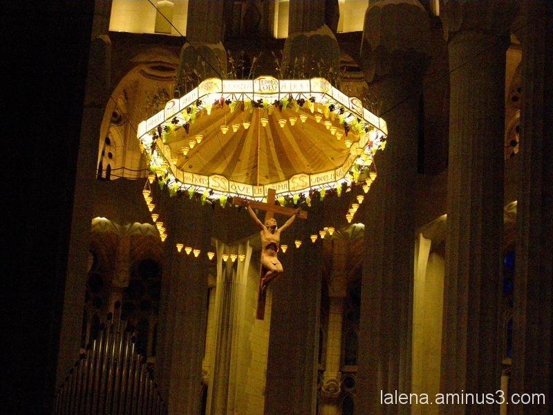 Detall creu Sagrada Família