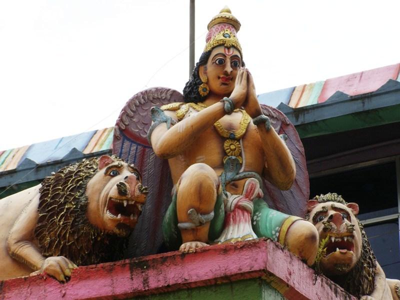 Detall en el temple indú