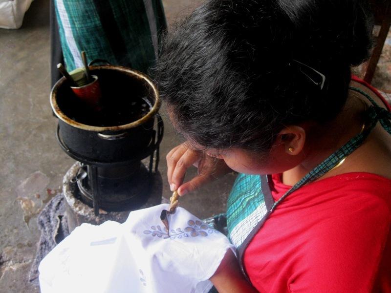 Elaborant un batik